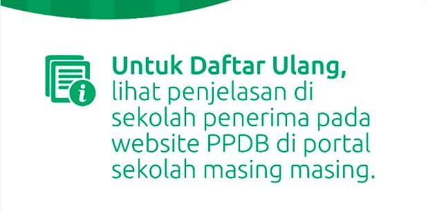 INFORMASI DAFTAR ULANG TAHAP 2 (ZONASI)