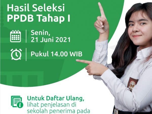 Pengumuman Hasil Seleksi PPDB 2021 Tahap 1